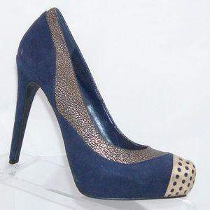 Jennifer Lopez Novella blue man made heels 6M